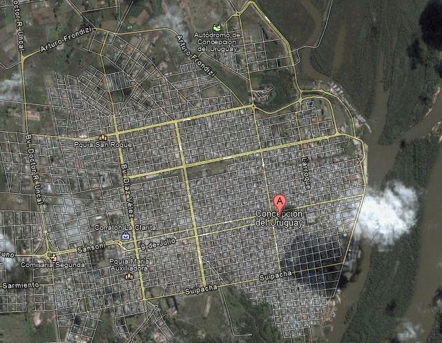 Concepcoin del Uruguay en Google Maps