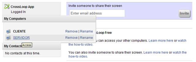 Accediendo a tus PC o las de tus clientes desde la página web de crossloop.