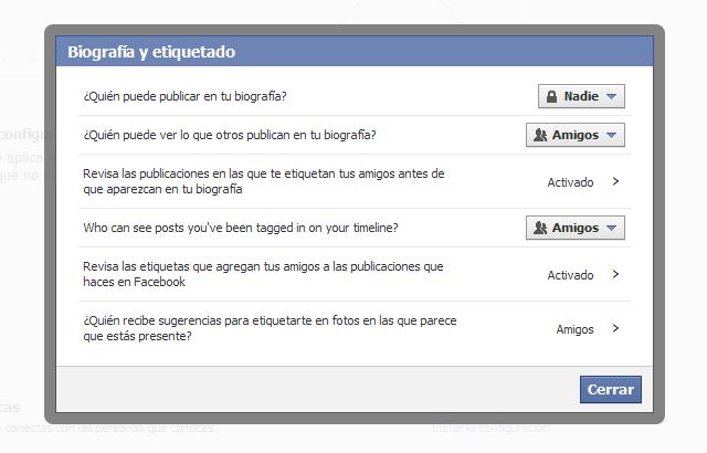 Evitar ser etiquetado en Facebook