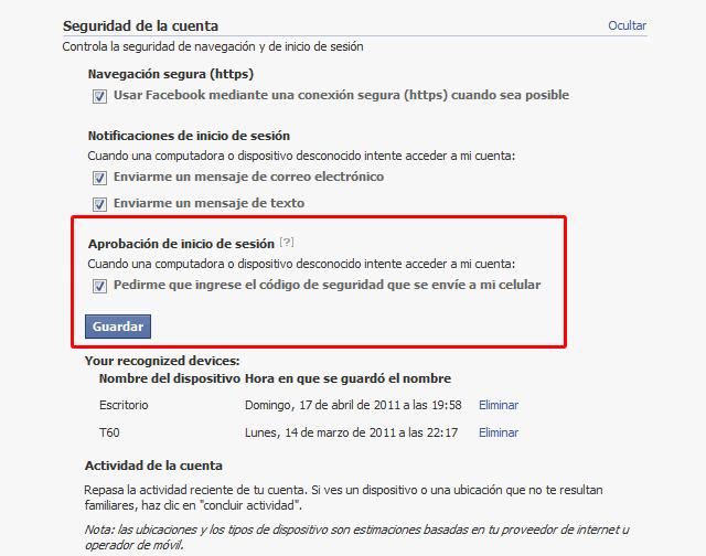 SMS Facebook