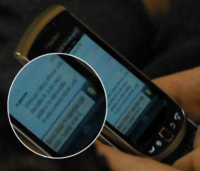 Foto del Blackberry de Ottavis