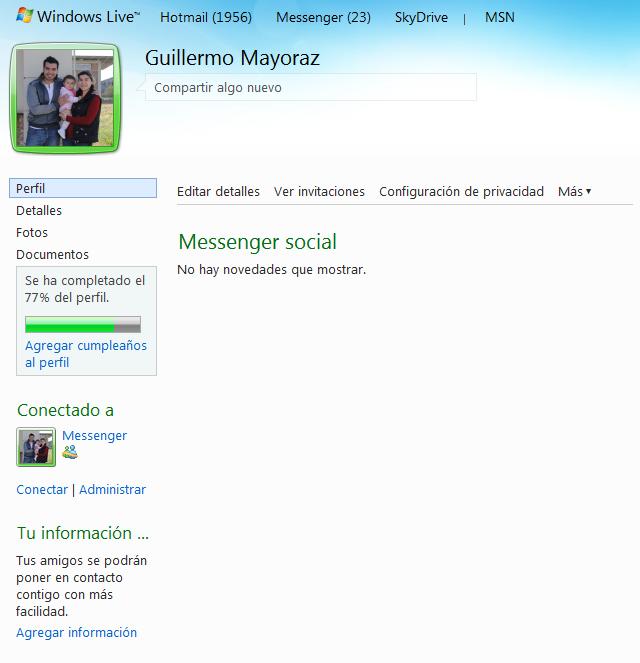 La red social de Windows Live Messenger