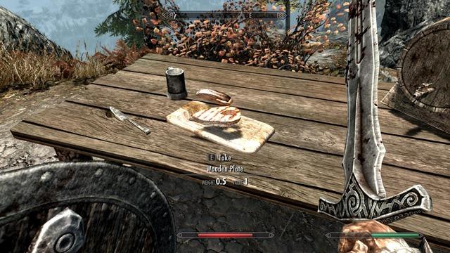 Comidas e ingredientes en Skyrim