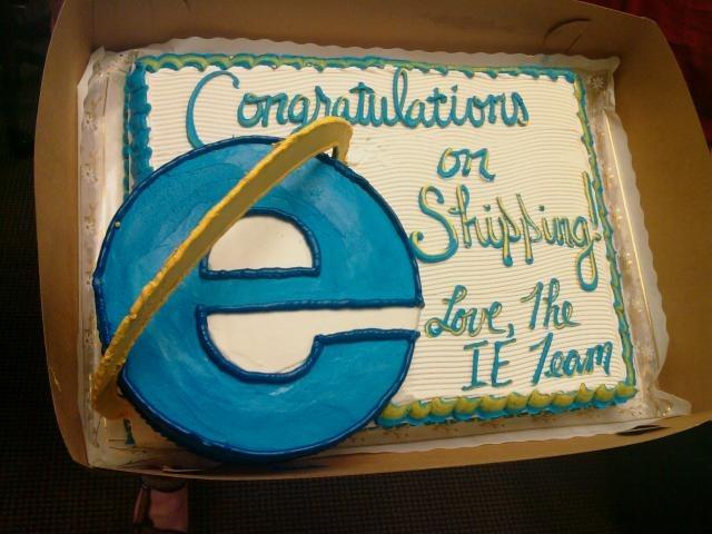 Torta del IE TEAM a Mozilla