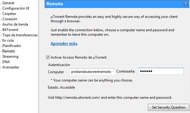 uTorrent Remoto